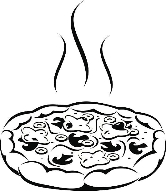 Best Pizza Clipart Black And White Illustrations, Royalty.