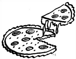 Pizza clipart black and white 7 » Clipart Station.