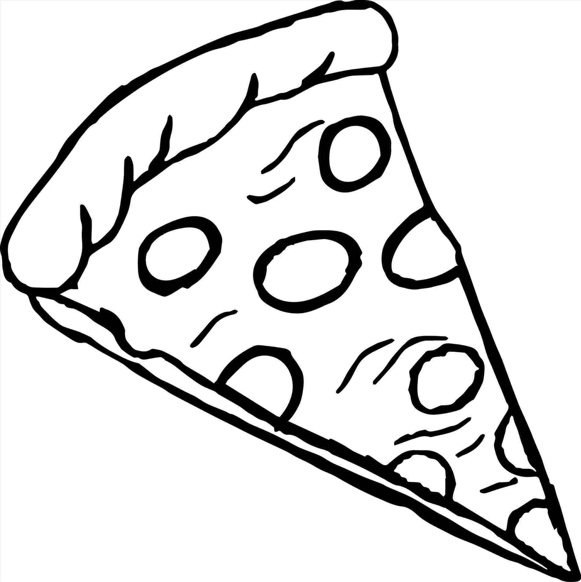 Pizza Slice Of Clipart Black And White Transparent Png.
