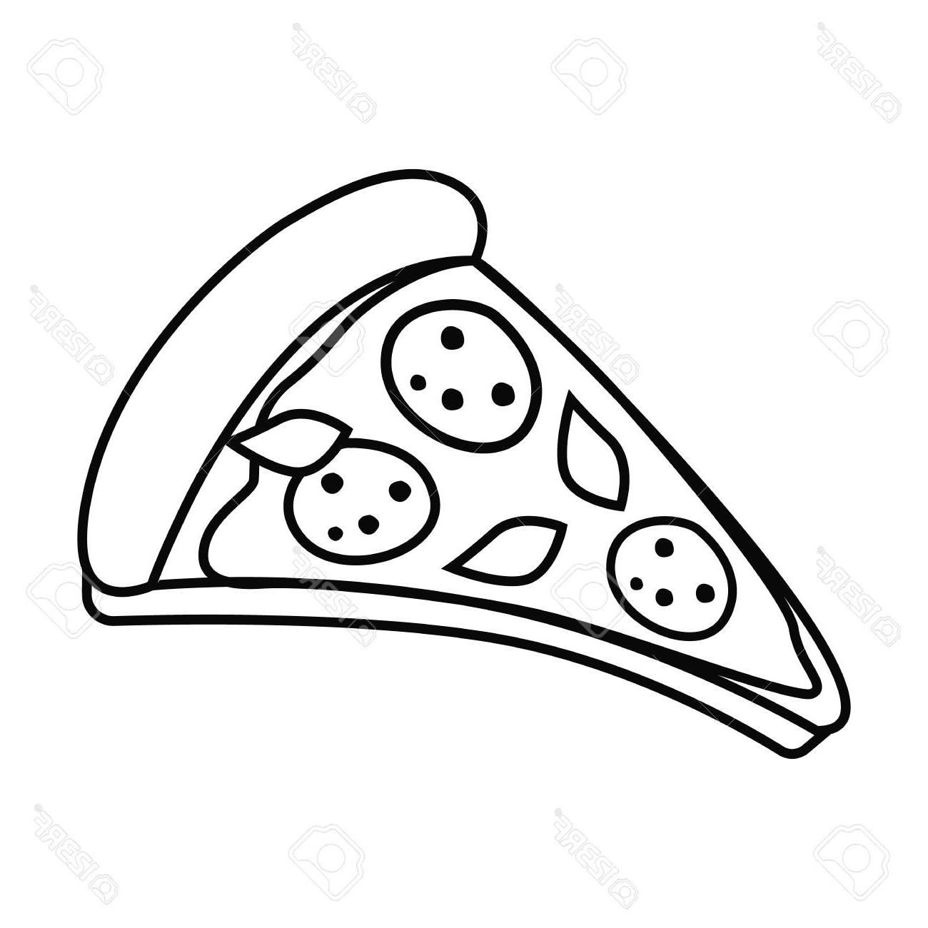 Best Free Vector Black And White Pizza Library » Free Vector Art.