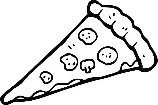 Best Pizza Black And White Illustrations, Royalty.