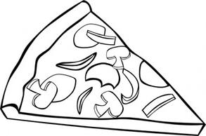 41+ Pizza Clipart Black And White.