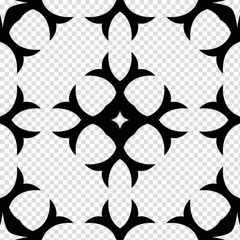 Gothic patterns, black and white plaid textile transparent.