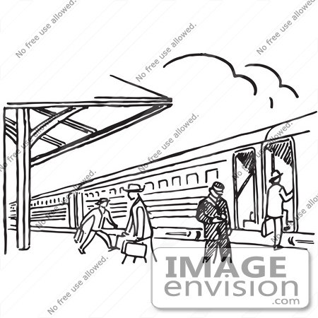 Train Station Clipart Black And White.