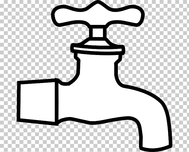 Tap water Black and white , Plumbing s PNG clipart.