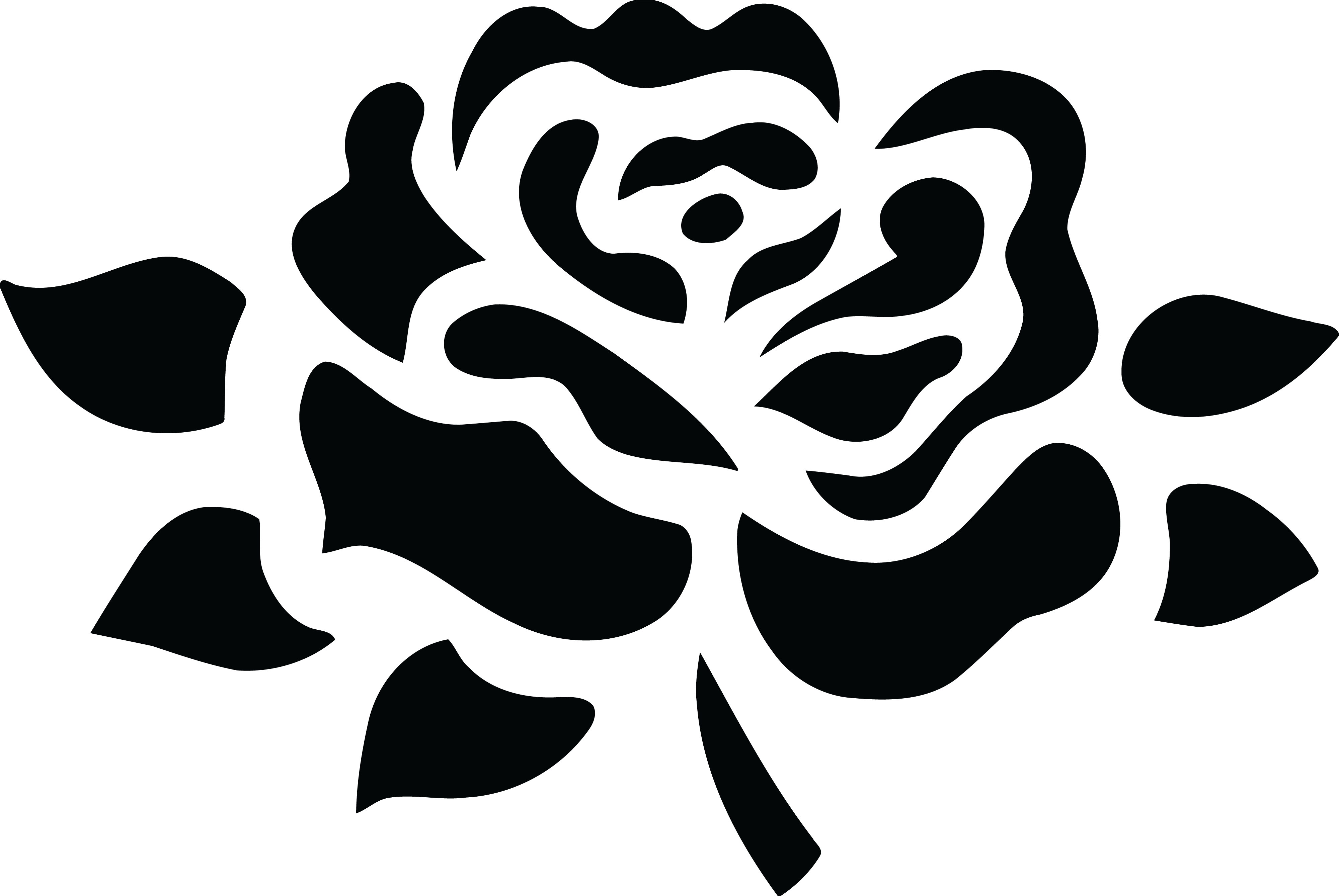 Rose clipart black and white png 1 » Clipart Station.