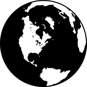 Black And White Globe PNG, SVG Clip art for Web.