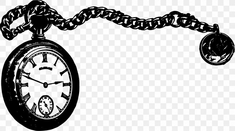 Pocket Watch Clip Art, PNG, 2400x1338px, Pocket Watch, Black.
