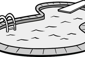 Swimming Pool Clipart Black And White.