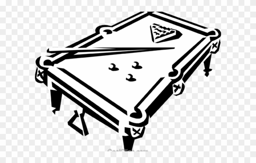 Drawn Table Clipart Vector.