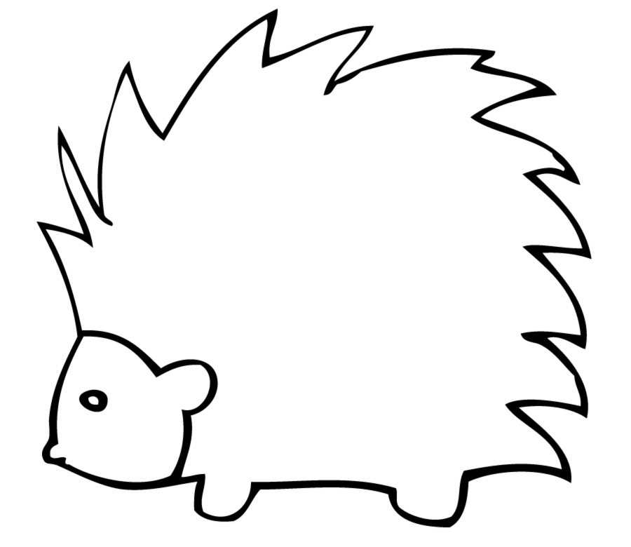 Free Porcupine Clipart Black And White, Download Free Clip.
