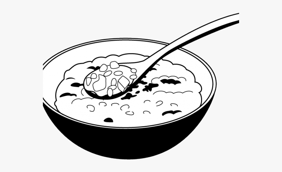 Porridge Clipart Black And White.