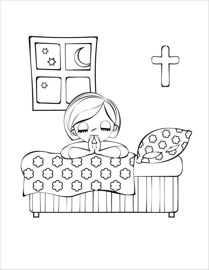 Free Praying Clipart Black And White, Download Free Clip Art.