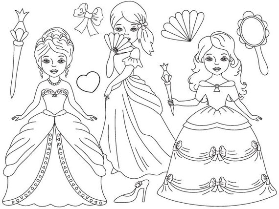 Princess clipart black and white 3 » Clipart Station.