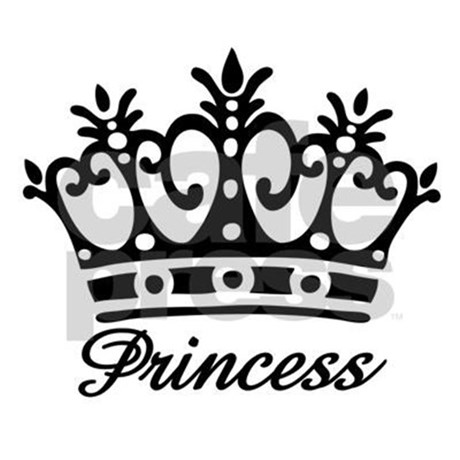Black And White Princess Crown Clipart.