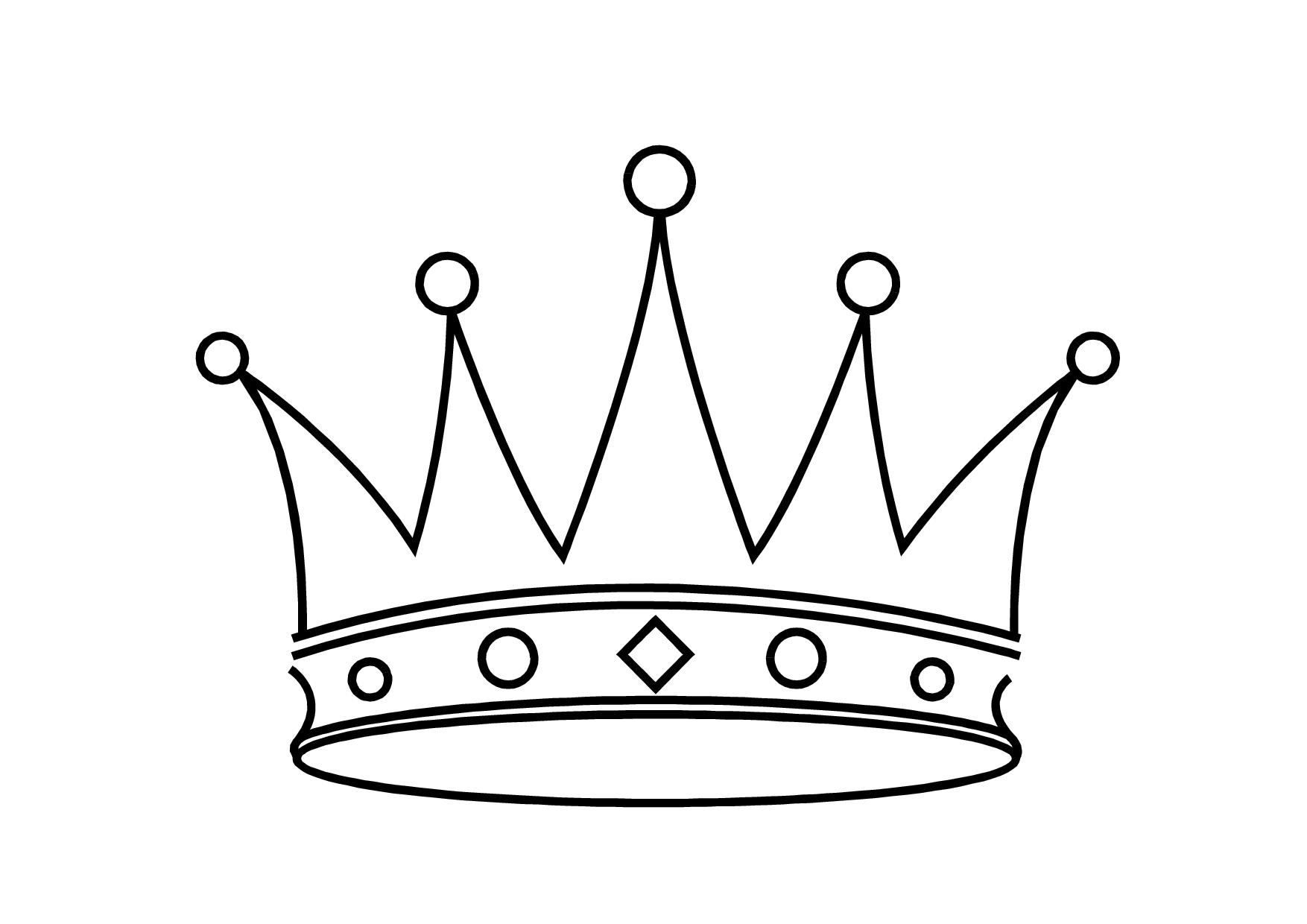 Crown clipart black and white Elegant Crown black and white princess.
