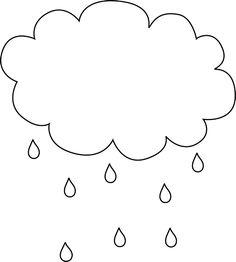 Black and White Cloud Under an Umbrella.