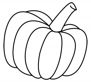 Pumpkin Clip Art Black And White.