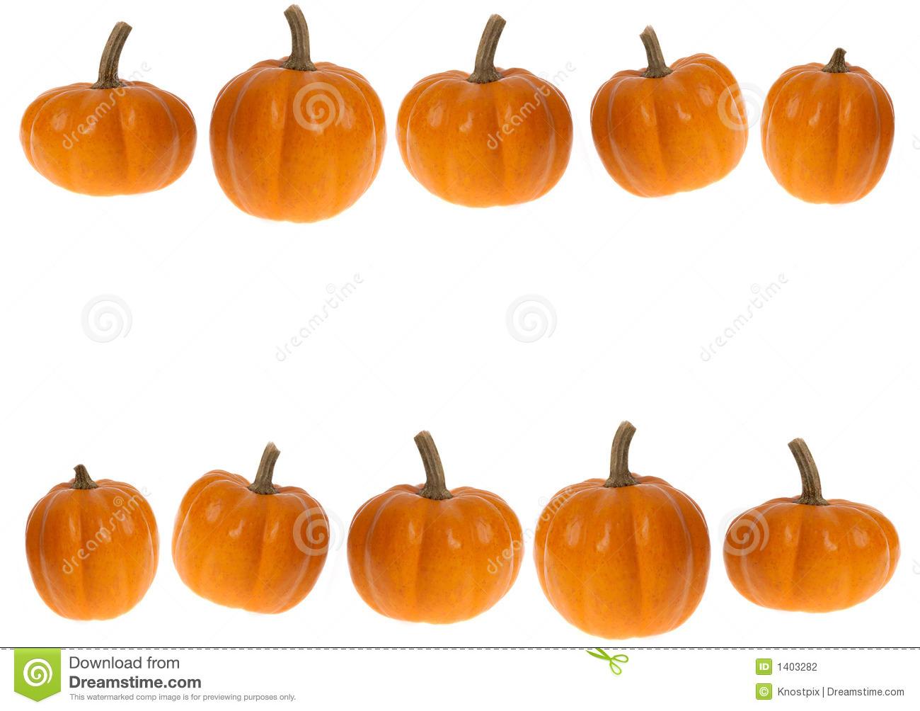 Pumpkin row clipart.