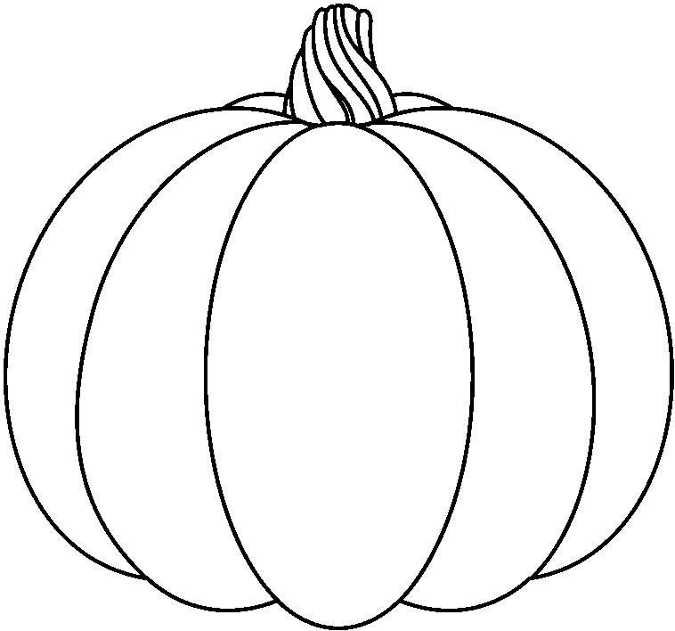 free number 1 pumpkin clipart clip art #19