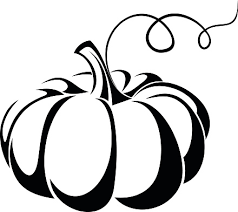 Image result for pumpkin clipart black and white.