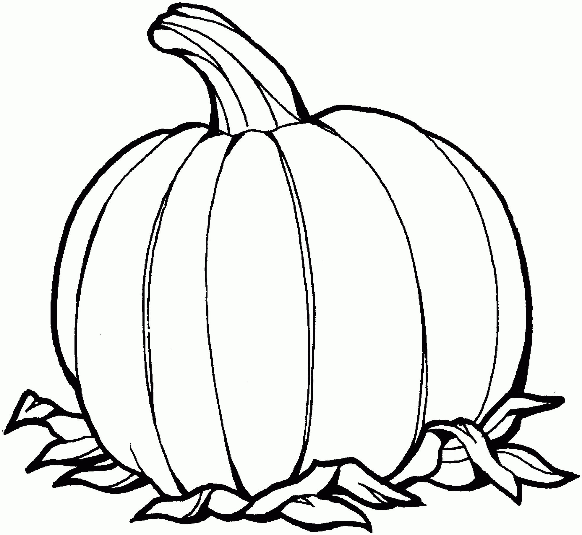 Black And White Pumpkin Clipart.