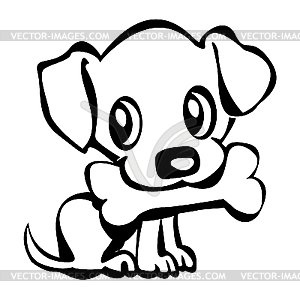 Puppy clipart black and white 3 » Clipart Station.