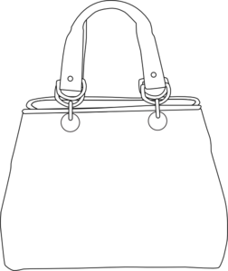 White Purse Clip Art at Clker.com.