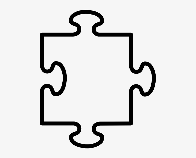 Image Black And White Stock Puzzle Piece Clip Art Vector.