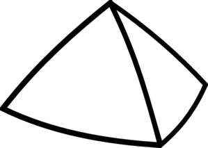 Black And White Pyramid Clipart.