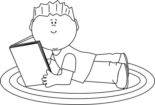 Reading clipart black and white 3 » Clipart Station.
