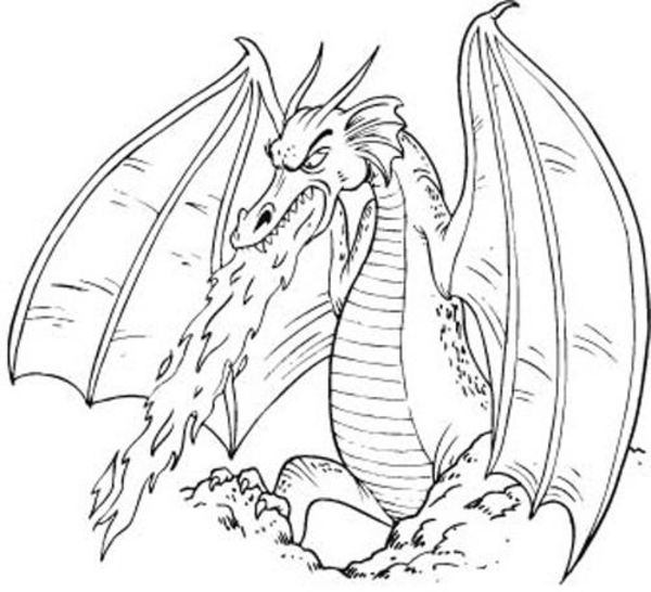 Flying Dragon Clipart Black And White.