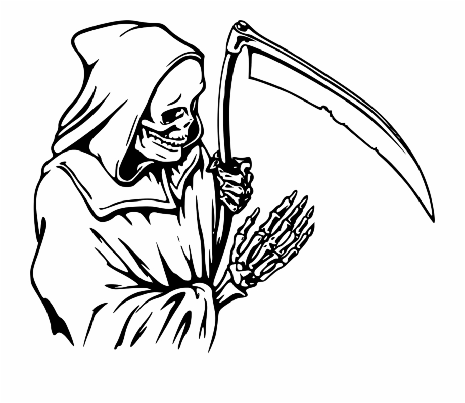 Free Grim Reaper Clipart Black And White, Download Free Clip.
