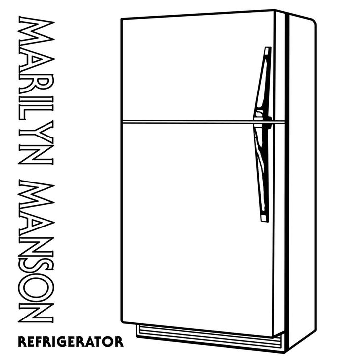 892 Refrigerator free clipart.