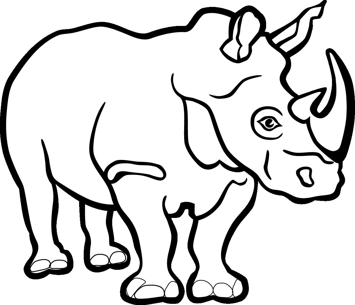 971 Rhino free clipart.