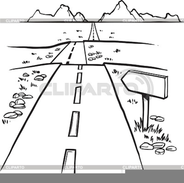 Road Clipart Black And White.