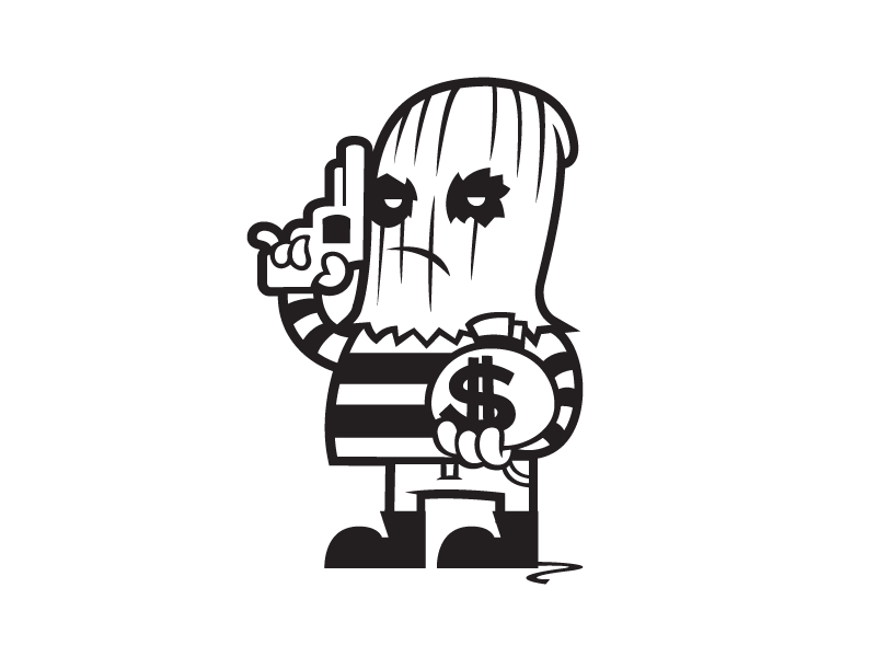 Free Robber Clipart Black And White, Download Free Clip Art.