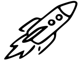 492 Rocket Ship free clipart.