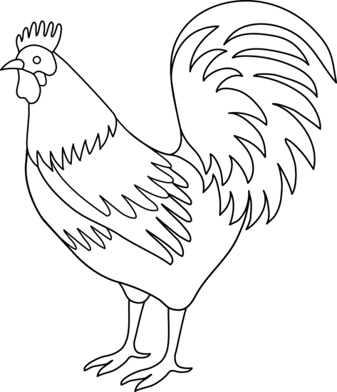 Free Black And White Rooster Clipart, Download Free Clip Art.