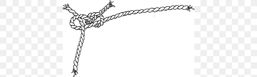 Rope Knot Clip Art, PNG, 420x247px, Rope, Black And White.