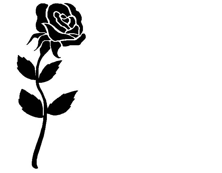 Rose black and white rose clip art free clipart.