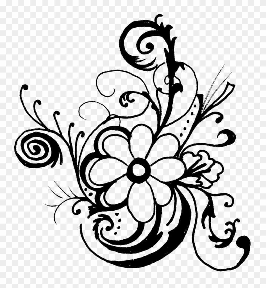 White Rose Clipart Floral.