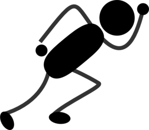 Person Running Clipart Black And White.