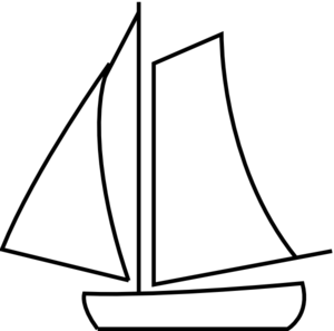 Sailboat Clipart Black And White.