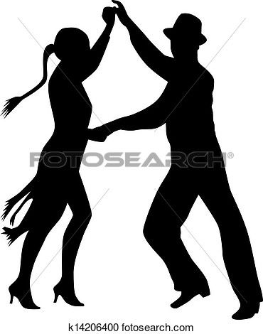 Dance people silhouette vector Clipart in 2019.