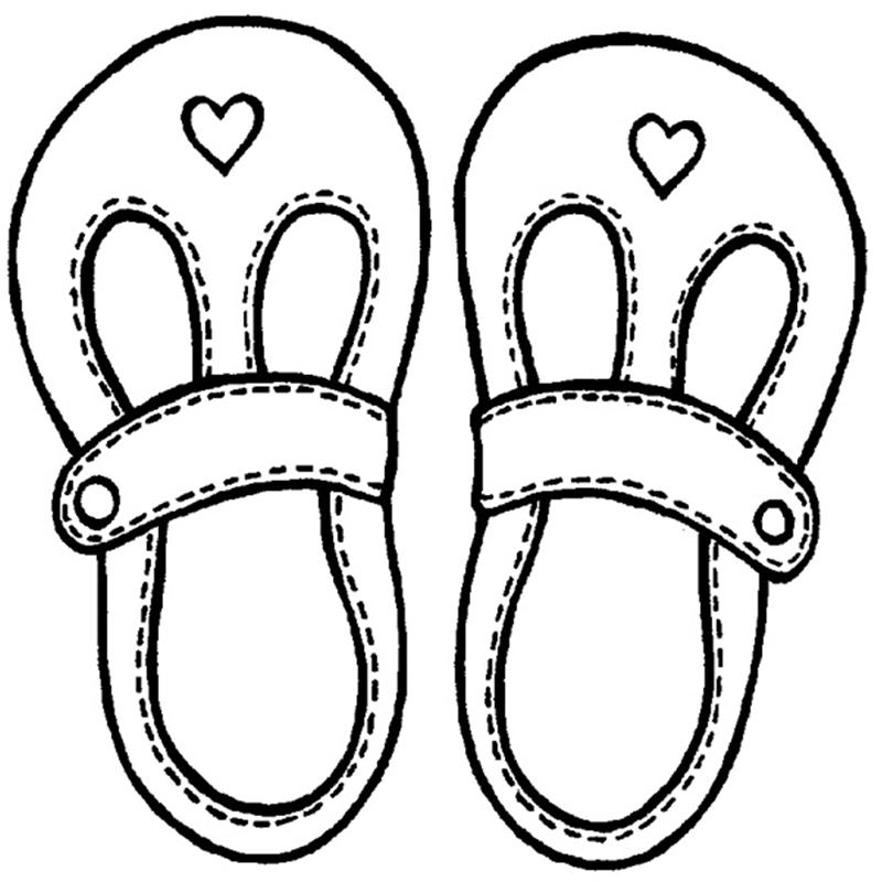 Free Sandals Clipart Black And White, Download Free Clip Art.