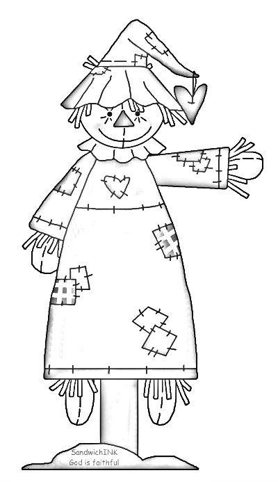 black and white scarecrow clipart 10 free Cliparts ...