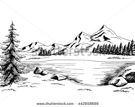 Scenery clipart black and white » Clipart Station.