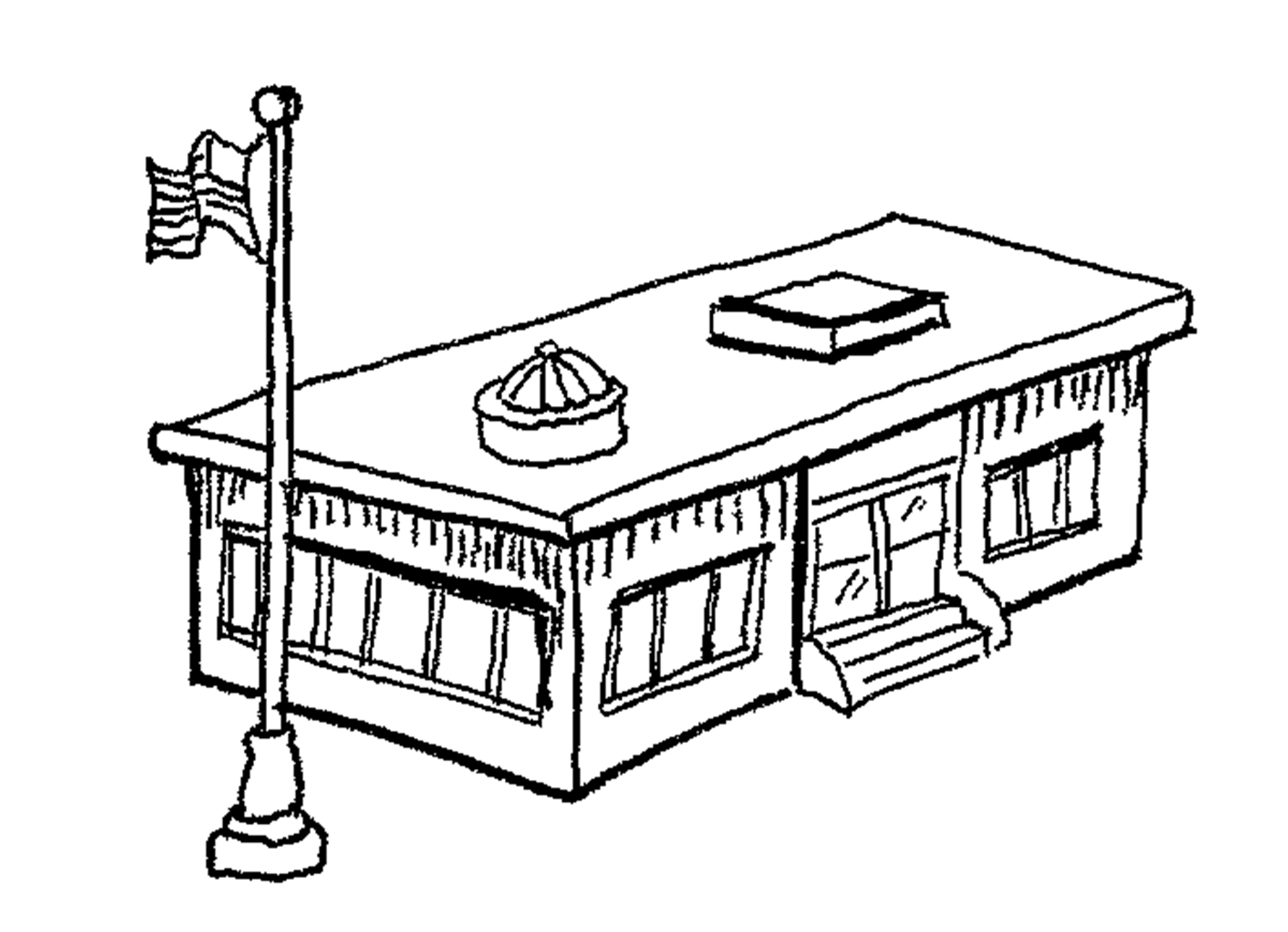 Building Clipart Black And White.