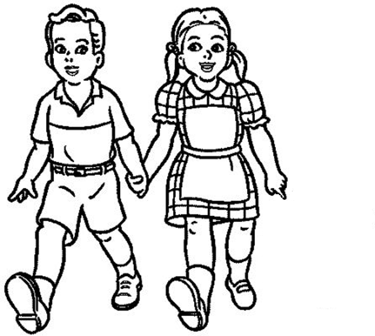 black and white school children clipart clipground
